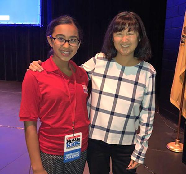 Sunaya With Maya Lin (Photo Courtesy of Author)