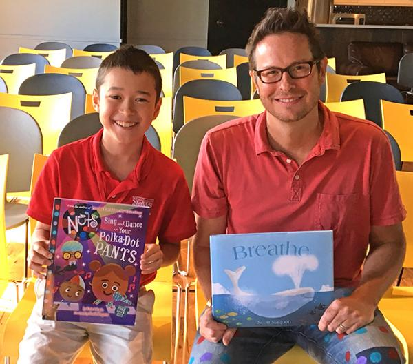 Max with author Scott Magoon