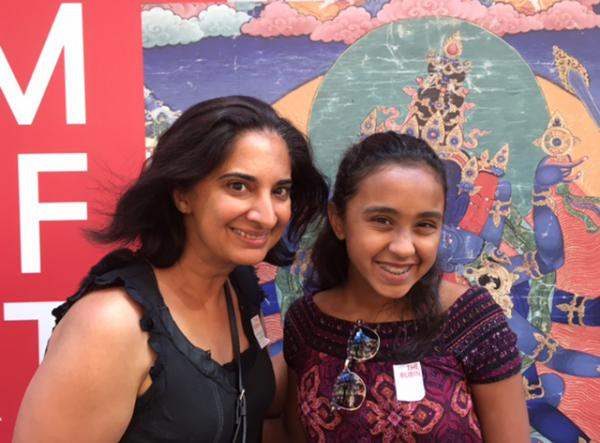 Mallika Chopra and Sunaya at the Rubin Museum of Art in New York City