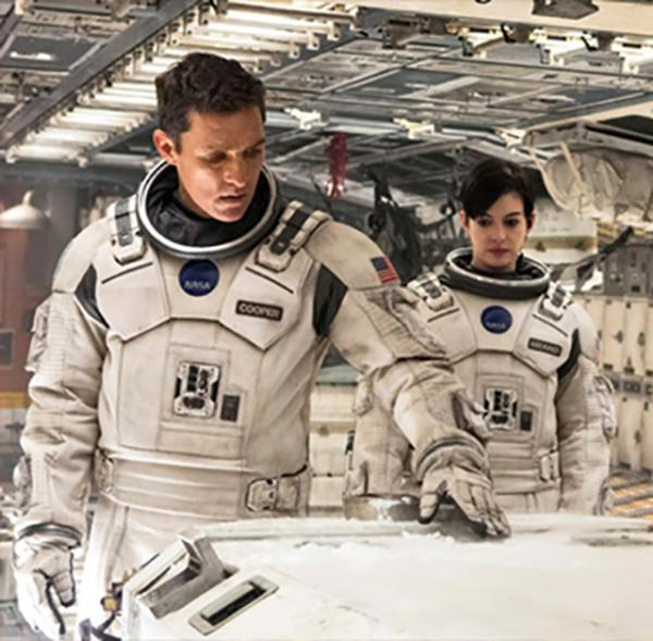 Matthew McConaughey and Anne Hathaway in a scene from the sci-fi adventure Interstellar.