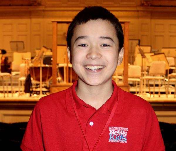 Max reporting from the Boston Symphony Hall before the Budapest Festival Orchestra concert