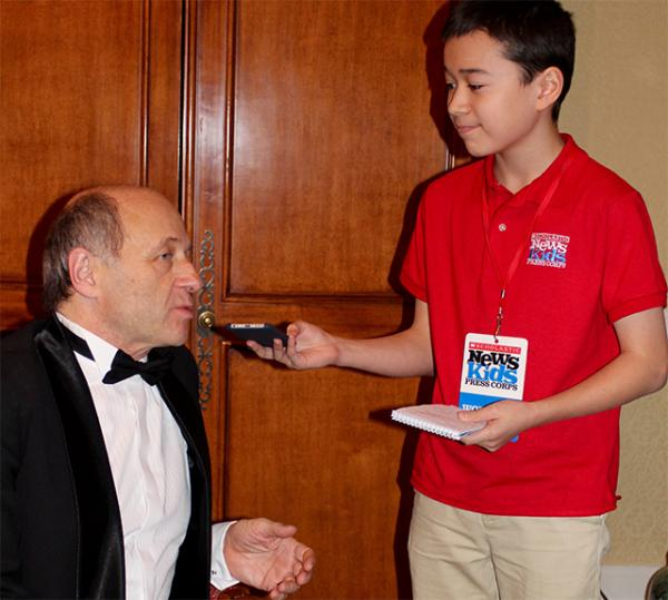 Max interviews Fischer at Boston Symphony Hall.