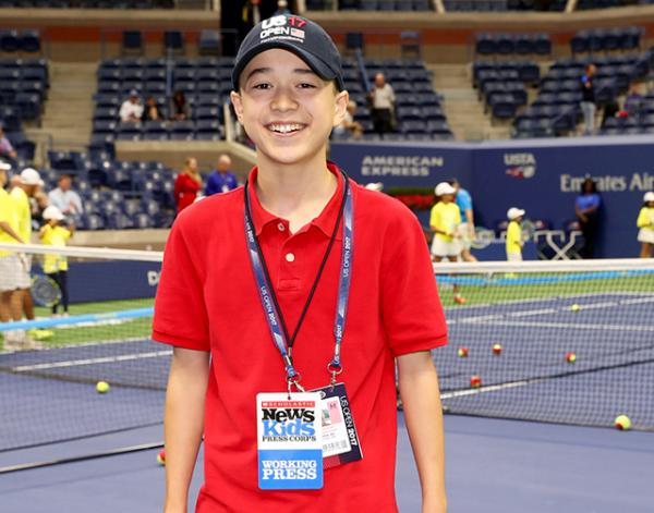 Maxwell covers the Net Generation event for kids at the U.S. Open.