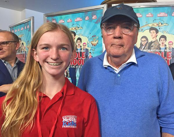 Skylar with James Patterson, author of the bestselling series and producer of the movie
