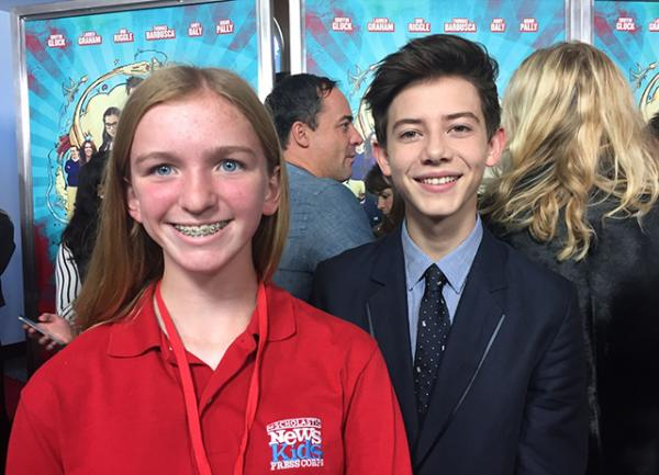 Skylar with Griffin Gluck, who plays Rafe