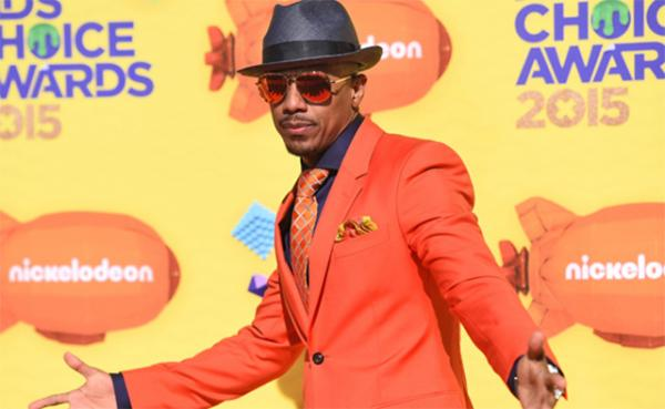 Nick Cannon strikes a pose at Nickelodeon's Annual Kids' Choice Awards on March 28 at the Forum in Inglewood, California.