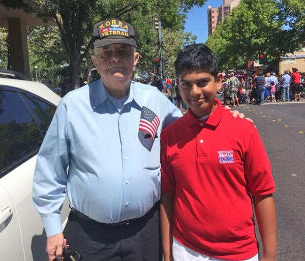 Dan Helix with Pratyush at the Fourth of July at Concord, CA