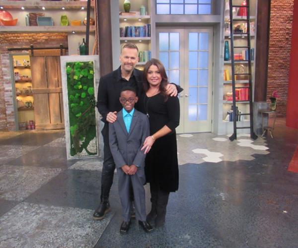 On the set with ?, Owen, and Rachael Ray