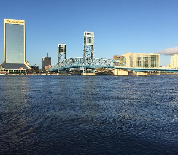 A view of the St. Johns River in Jacksonville