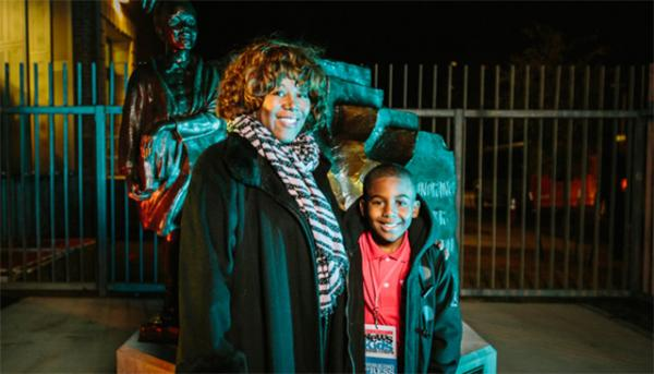 Scholastic News Kids Press Corps reporter Samuel Davis attended the unveiling of the Ruby Bridges statue in New Orleans and spoke with Bridges (left) about her experience.