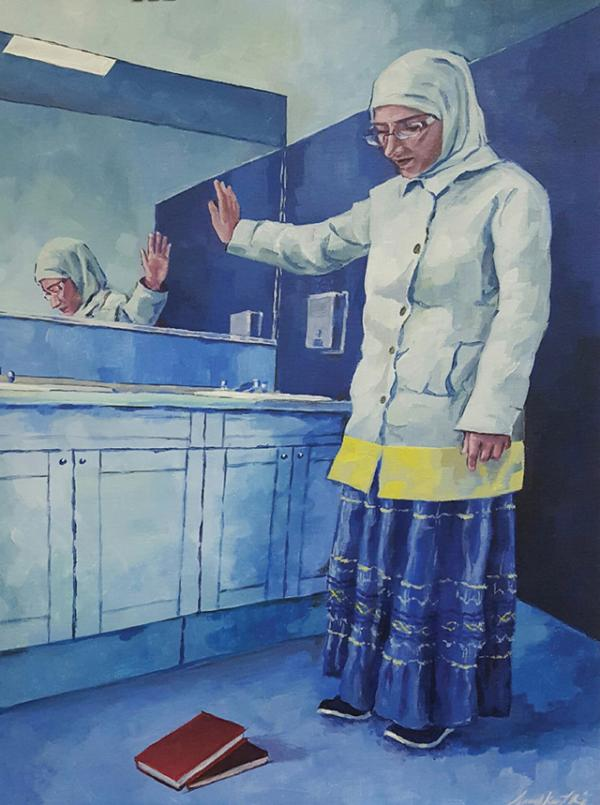 """""""Shifting Perspective,"""" an award-winning painting by Anushka Nair"""