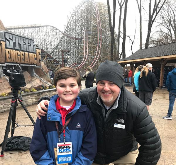 Nolan with Tony Clark, Director of Communications at Cedar Point