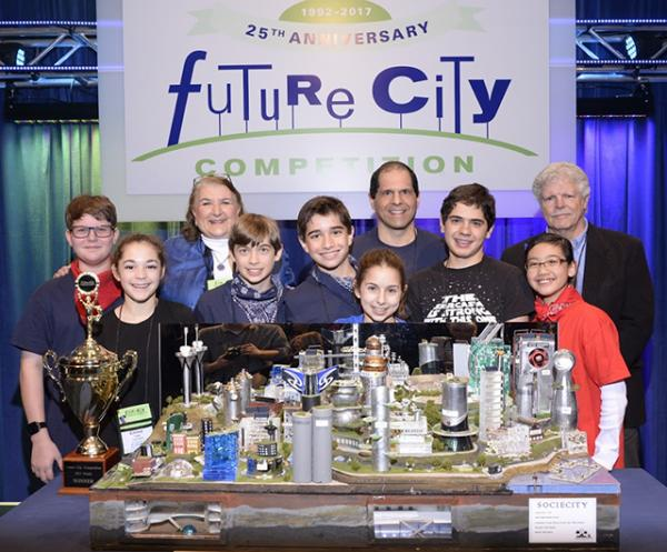 Winners of the Future City competition, photo by KRR Photography Limited