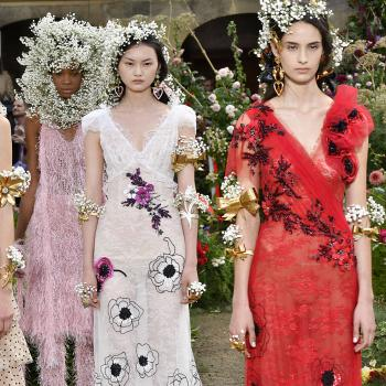 Models introduce Rodarte's Spring/Summer 2018 collection.
