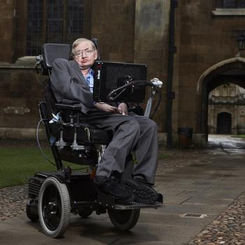 Stephen Hawking at Gonville & Caius College, Cambridge.