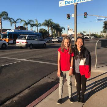 Annika with Emily Vu, a member of the FNL Club