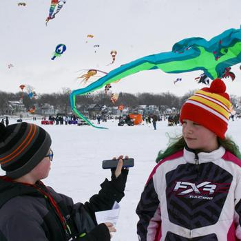 Brandon interviewing Alivia Paine, 10, Clear Lake, IA