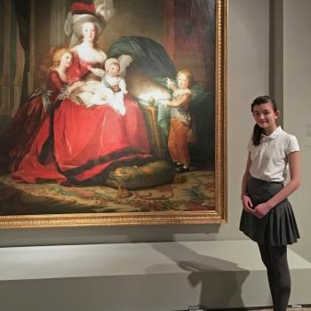 Charlotte stands next to Marie Antoinette and Her Children Artist