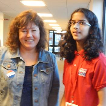 Maya interviewing Kathy Barwacz