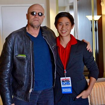 Yondu (Michael Rooker), with Jeremy