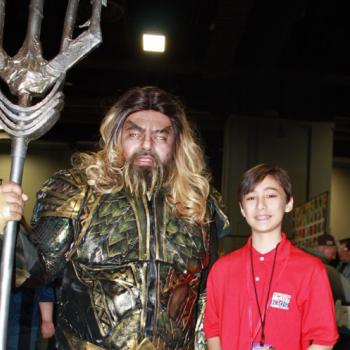 Daniel and John dressed as DC's Aquaman