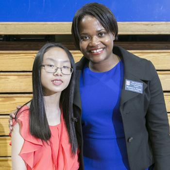 Victoria with Duke TIP's Executive Director, Shawna Young