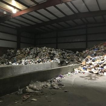 Garbage at the Boxx facility that will be taken to a landfill in Sarona, Wisconsin