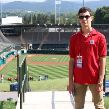 Erik at the Howard J. Lamade Stadium