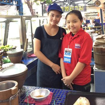 Miss Wiang Chotikamas of the somtum stall.