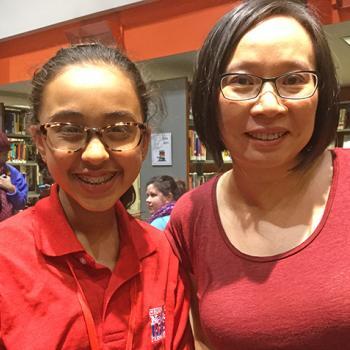 Sunaya with author Malinda Lo