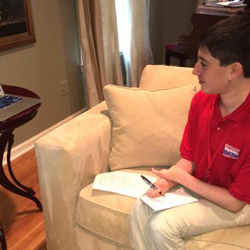 Ethan interviewing Daniel Shapiro, the United States Ambassador to Israel since 2011.