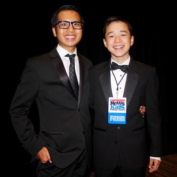 Ethan Olaes  and Max at the Alleluia Ball