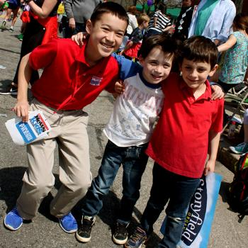 Max at the race with Jack Arvedon, 6, and Sam Kline, 6