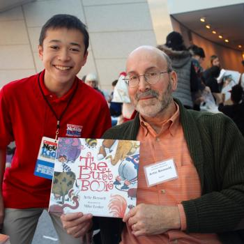 Max and Artie Bennett at the Brooklyn Children's Book Fair