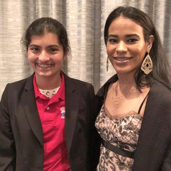 Manat Kaur with Camilla Barbossa, recipient of Going the Distance Award.