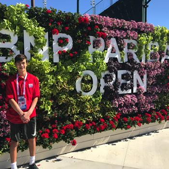 Ben at the BNP Paribas Open Tennis Tournament at Indian Wells