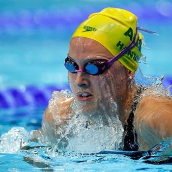 Jessica Hansen doing the breast stroke
