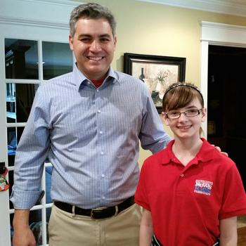 Kaitlin with Jim Acosta
