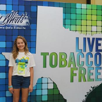 Kaylie at the Say What! Texas Tobacco-Free Conference