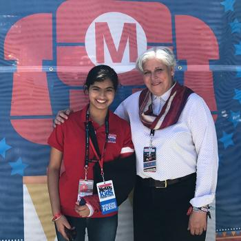 Manat Kaur with Sherry Huss, Co-Founder of Maker Faire.