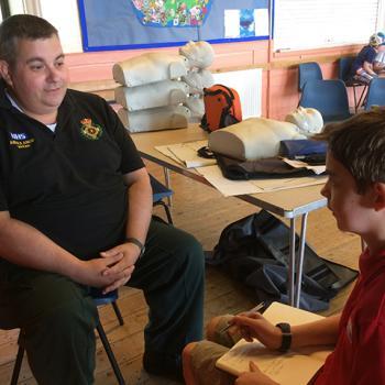 Martin interviewing Paramedic Ian