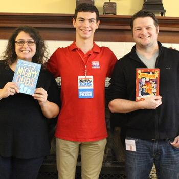 Erik with middle-grade authors Amy Ignatow and Isaiah Campbell