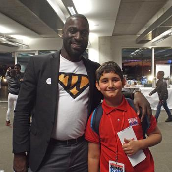 Adam with Uktrakids supervisor Samuel Appiah