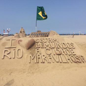 A sandcastle that was created just for the Summer Olympic Games in Rio
