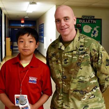 Stone with U.S. Army veteran Dan Silva