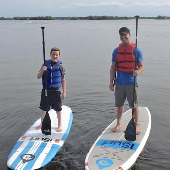 Ryan with record-holding paddleboarder Alex Linnell