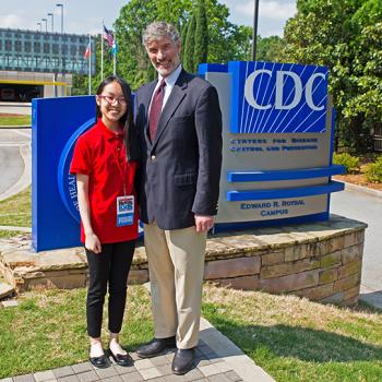 Victoria and Ron Salerno, director of the CDC's Division of Laboratory Systems at the CDC