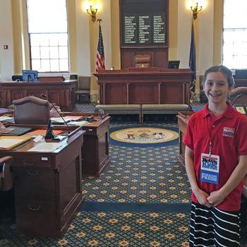 Caroline in the Senate before the session
