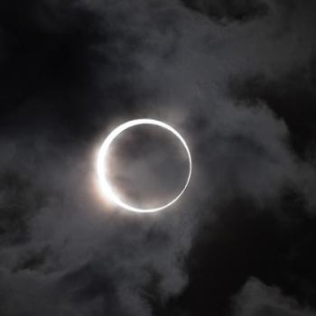A solar eclipse
