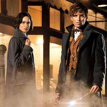 The stars of Fantastic Beasts and Where to Find Them. J. K. Rowling, the author of the Harry Potter series, wrote the screenplay.